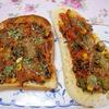 新生姜ひじきココ味噌トマトソースのオープンサンド