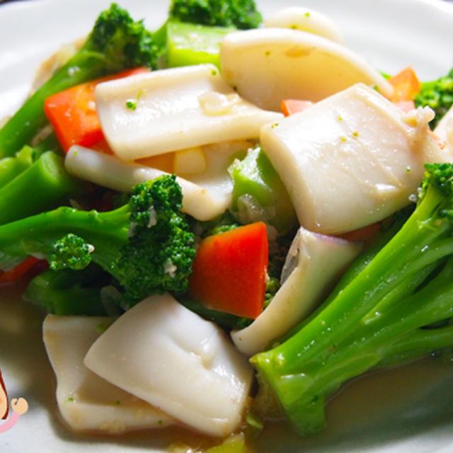 イカとブロッコリーの塩麹炒めの巻