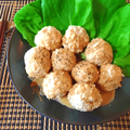 絶品ジャンク感。ガーリックポン酢クリームの極柔チーズ鶏団子(糖質6.4g) by ねこやましゅんさん