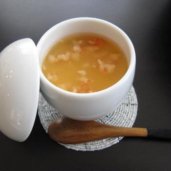 冷たい茶碗蒸し えびあんかけ