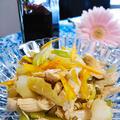 セロリとささみとオレンジ 隠し味は自家製出汁醤油 by 青山 金魚さん