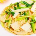 せりと筍の和風パスタ☆春野菜を使った簡単人気レシピ