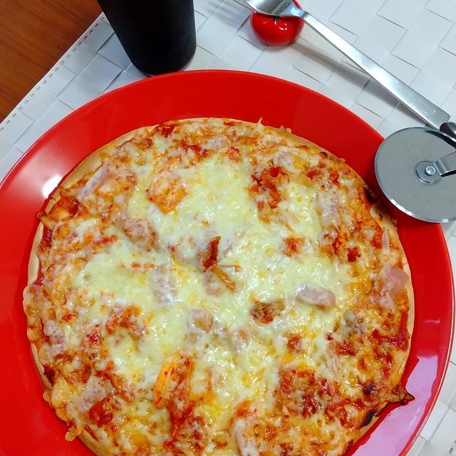 キムチ&スパムのピザ