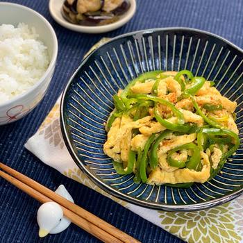 【レシピ】☆常備菜も夏味に☆ピーマンと油揚げのきんぴら《じゅわり甘辛い♪》