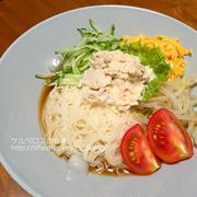 サラダそうめん(夕食2015.8.2)