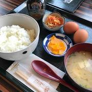 熊本の実家に帰る。卵かけごはんでモーニング。