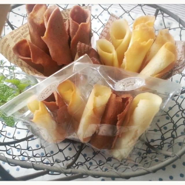 卵白消費~♡こ~んなに可愛くって美味しいラングドシャ~焼けちゃった♡(* ̄ー ̄)