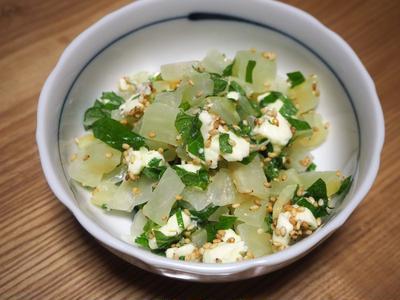 紫蘇沢庵チーズの小鉢