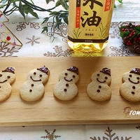 ボーソー米油部♪バターを使わない!米油で雪だるまクッキー