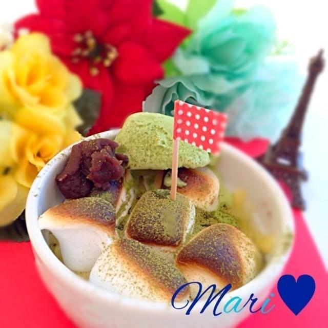 好きなものだけ♡マシュマロ抹茶パフェ×カマンベールチーズ