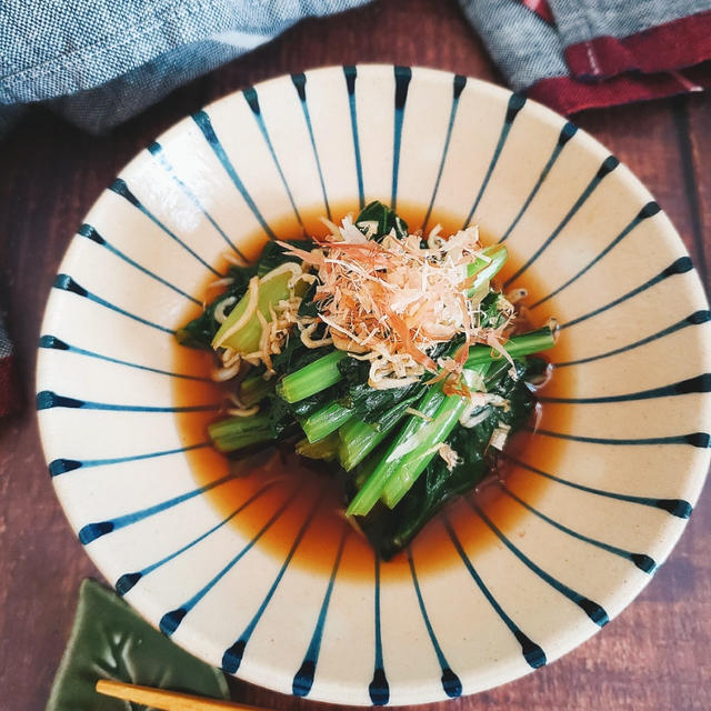 ~電子レンジde簡単~【小松菜とじゃこのおひたし】#和食 #簡単レシピ #妊婦ごはん