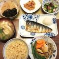和食晩ご飯の献立『筍、蛸、根菜』