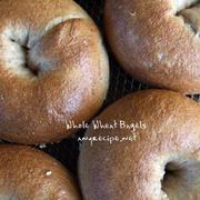 全粒粉ベーグルの作り方 / 白色と赤色で食べる by フリムン徳さん