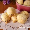 ホットケーキミックスとパパンでつくる、カメロンパンのミニクッキー☆スパイス大使&ハウスパパン<メロンパン味>&運動会おやつにも♪
