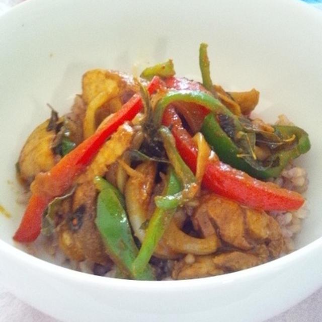 スリランカ風 鶏丼