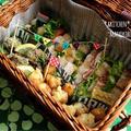 ミルクハースの春色サンドイッチバスケット♪運動会♪お花見♪ピクニック♪お弁当に