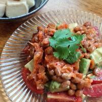 アボカドのキムチ納豆和え