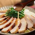 鶏むね肉のぽん酢鴨ロース風 、 炊飯器レシピと電子レンジレシピ
