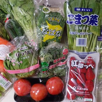 フレッシュなグリーンを楽しむ!まつの春野菜ボックスが届きました