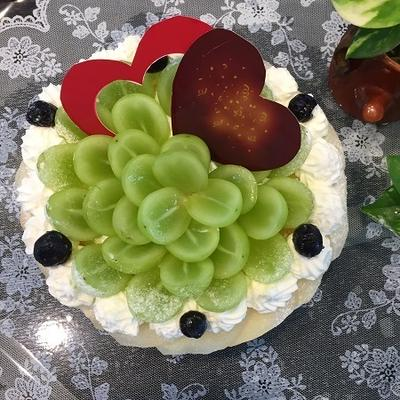 シャインマスカットでノンオイル・バースデーケーキ~♪♪