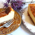 【簡単!】水切りヨーグルトで♪ママレード・チーズケーキ