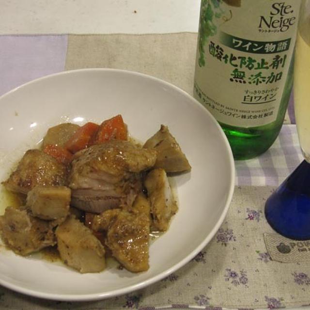 豚バラ肉と里芋の中華蒸し&白ワイン