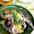 3月 アサリとキャベツ、豚肉の煮込み♪