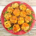 鶏ミンチとしめじでヘルシーケチャソースボール水菜にのせ(鶏胸ミンチ)(ダイエット、節約)