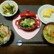 炊き込みご飯がメインの食卓☆