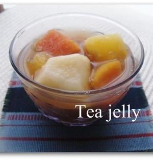 果物たっぷり☆紅茶のフルーツゼリー♪