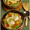 塩麹蒸し鶏とアボカドのトマトグラタン