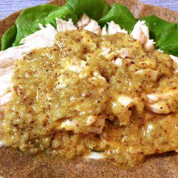 喜びの食卓。迸る柔らかさのチキンマスタードカルパッチョ(糖質4.7g)