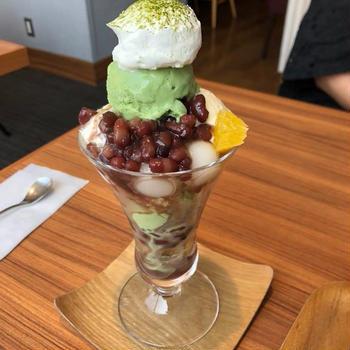 抹茶パフェ&アイスコーヒー「UCCカフェ コンフォート」