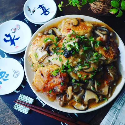 年末年始の食べ過ぎにも❤️ふんわりヘルシー豆腐ハンバーグのきのこおろしあんかけ♪