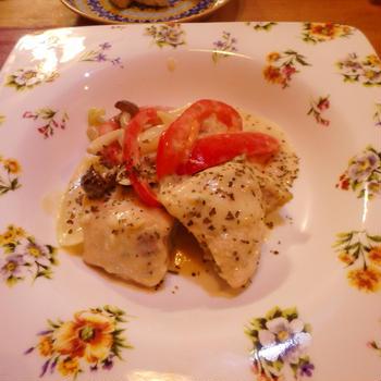 秋鮭のクリーム煮