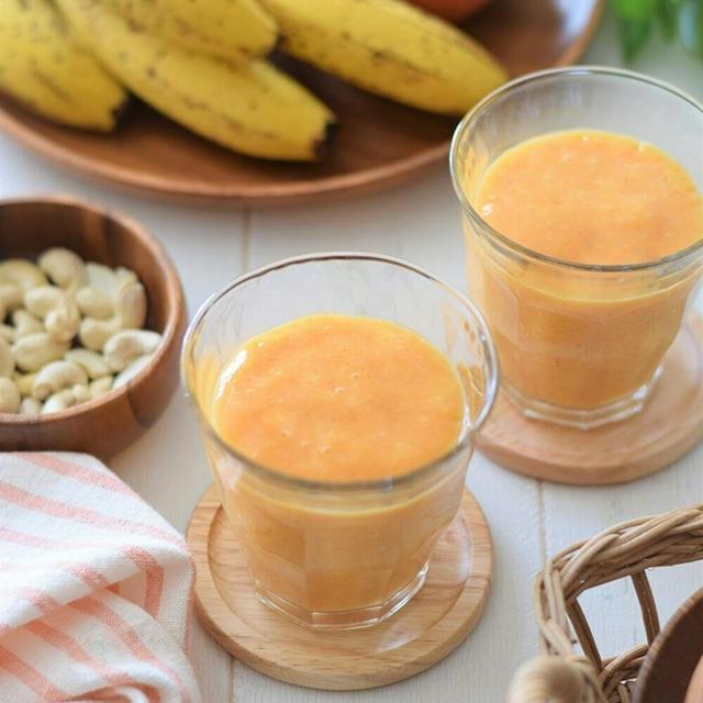 【おもてなし】激ウマ♡柿とバナナのスムージー♪秋には秋のスムージー