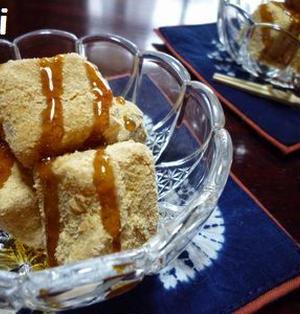 片栗粉de麦茶わらび餅**