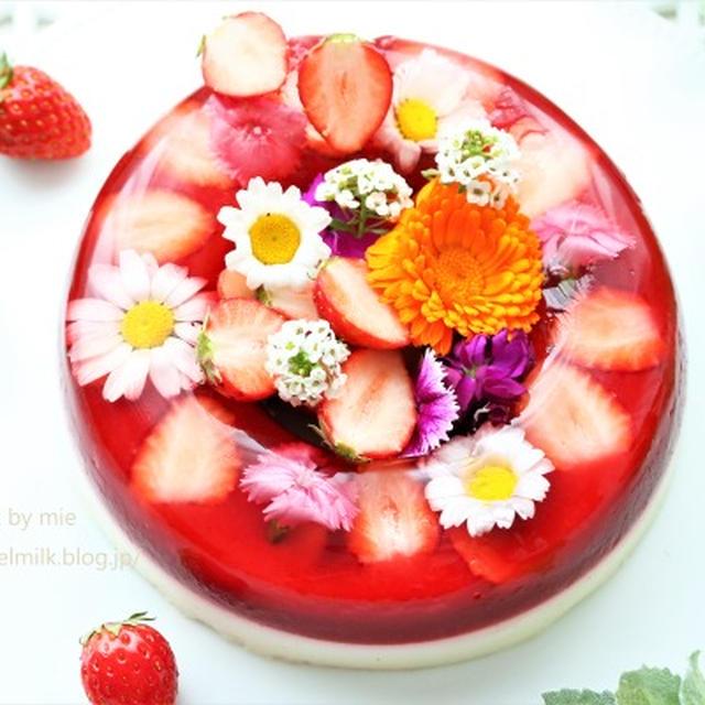 苺とチーズのリースゼリー(レシピ付き)