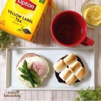 レモンバターのアスパラエッグマフィンとチョコマシュマロマフィン♪「ひらめき朝食」レシピモニター