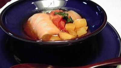 本格だしつゆをプラスしてトマトスープが更に美味しくなりました♪