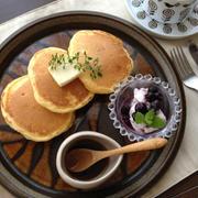 ふわふわ、しっとりパンケーキ♪のブルーベリクリームチーズ添え☆ by cuicuiさん