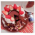 サプライズ♡かくれんぼチョコレートケーキ