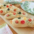 【レシピ】スティック&葉っぱのフォカッチャ