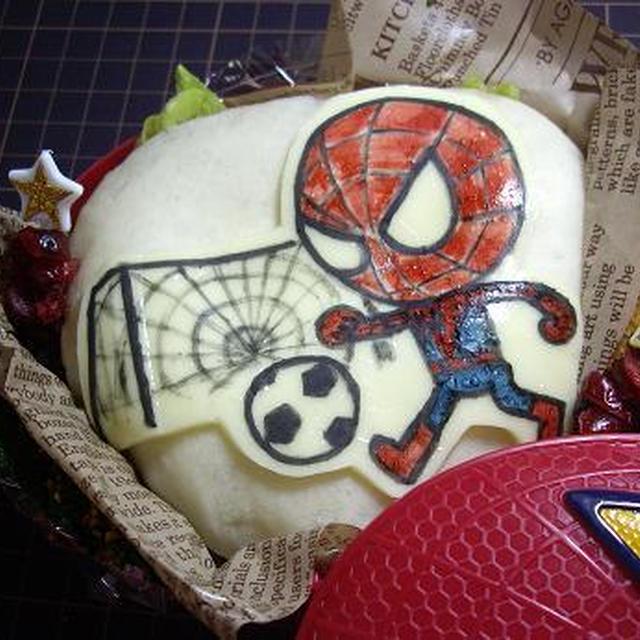 今度はちびキャラサッカースパイダーマンinマックのスパイダーマンお弁当箱