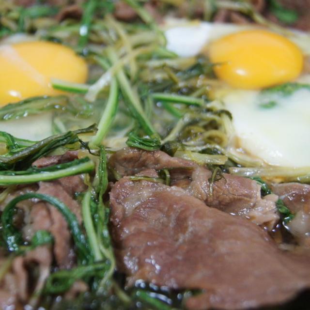 京みず菜と豚肉のすき焼き煮