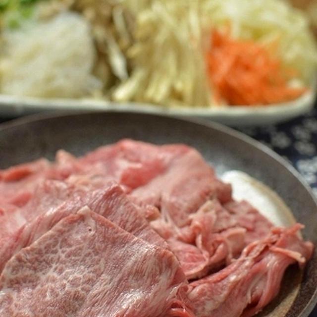 頂いたお肉でしゃぶしゃぶ❤のおゆうはん。