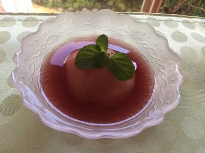 ラ フランスの赤ワインコンポート(レシピ付き)