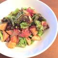 桃と生ハムで作るイタリアンサラダ