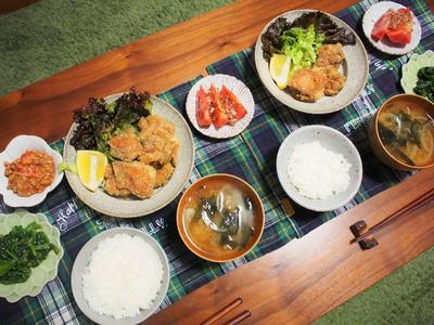 鶏肉のカレー唐揚げ、和風麻婆豆腐風&休日の夫婦のお出かけ