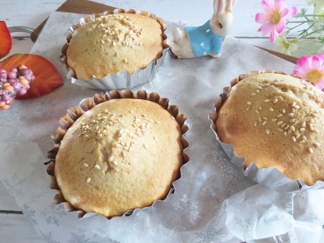生クリームとあずき餡の焼き菓子